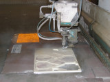 Water cutting of the ceramic elements