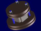 Bonding of the ceramic elements under pressure