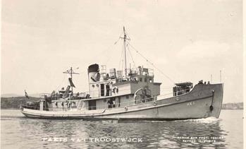Hr.Ms. Paets van Troostwijk op de rede van Toulon (1950)
