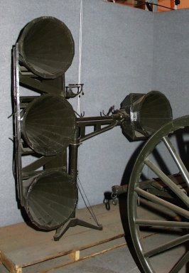 Example of early first World War acoustic listening equipment