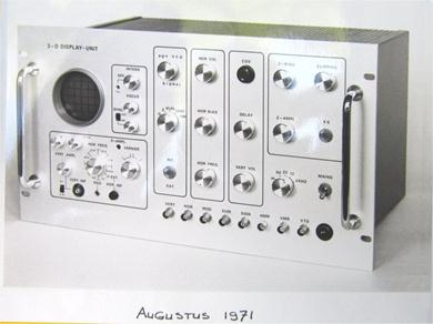 Control-unit with oscilloscope