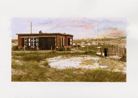 Het Meetgebouw (1927) - schilderij aan de hand van een originele foto door G. Mooij