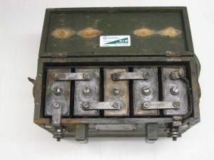 Batterij van de zend-ontvanger