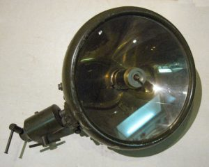 Infrared transmitter river barrier built into truck headlight (1939)