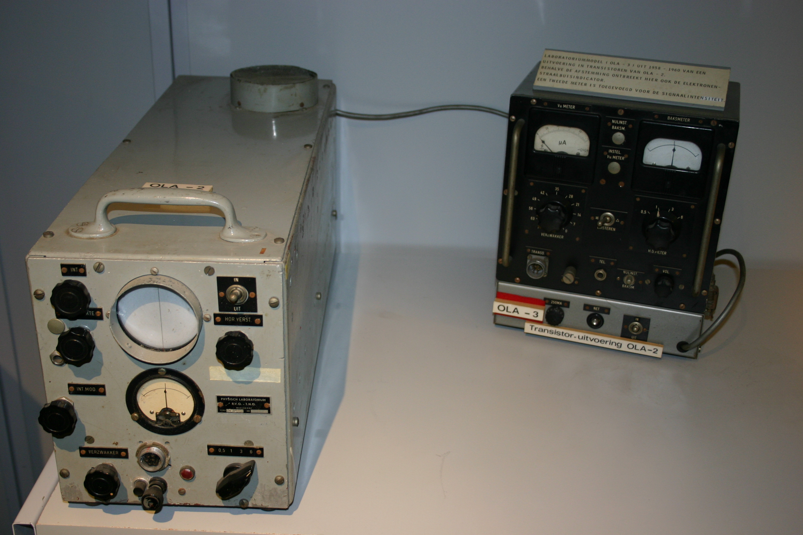 Laboratorium test version of the OLA-3 (transistorised version of the OLA-2) period 1958-196