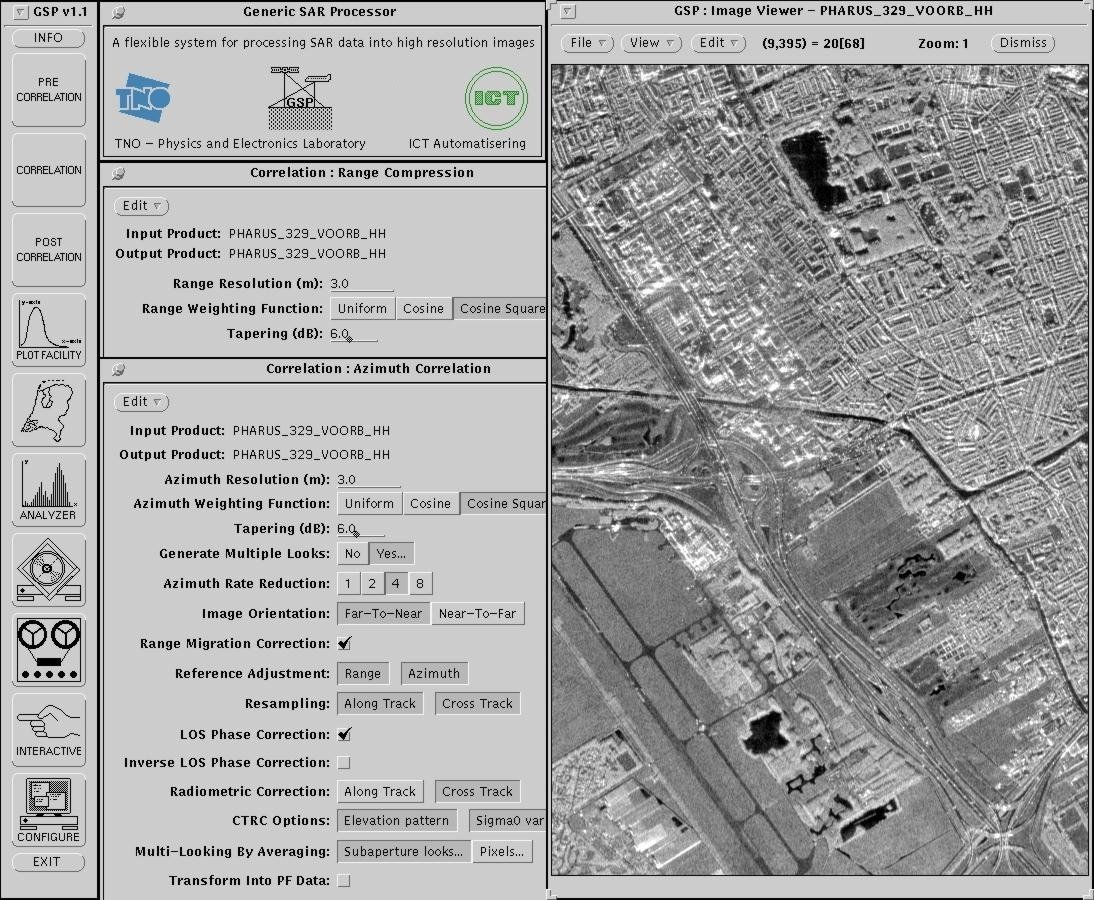Generic SAR processing tool with image of Voorburg, A4 and A13
