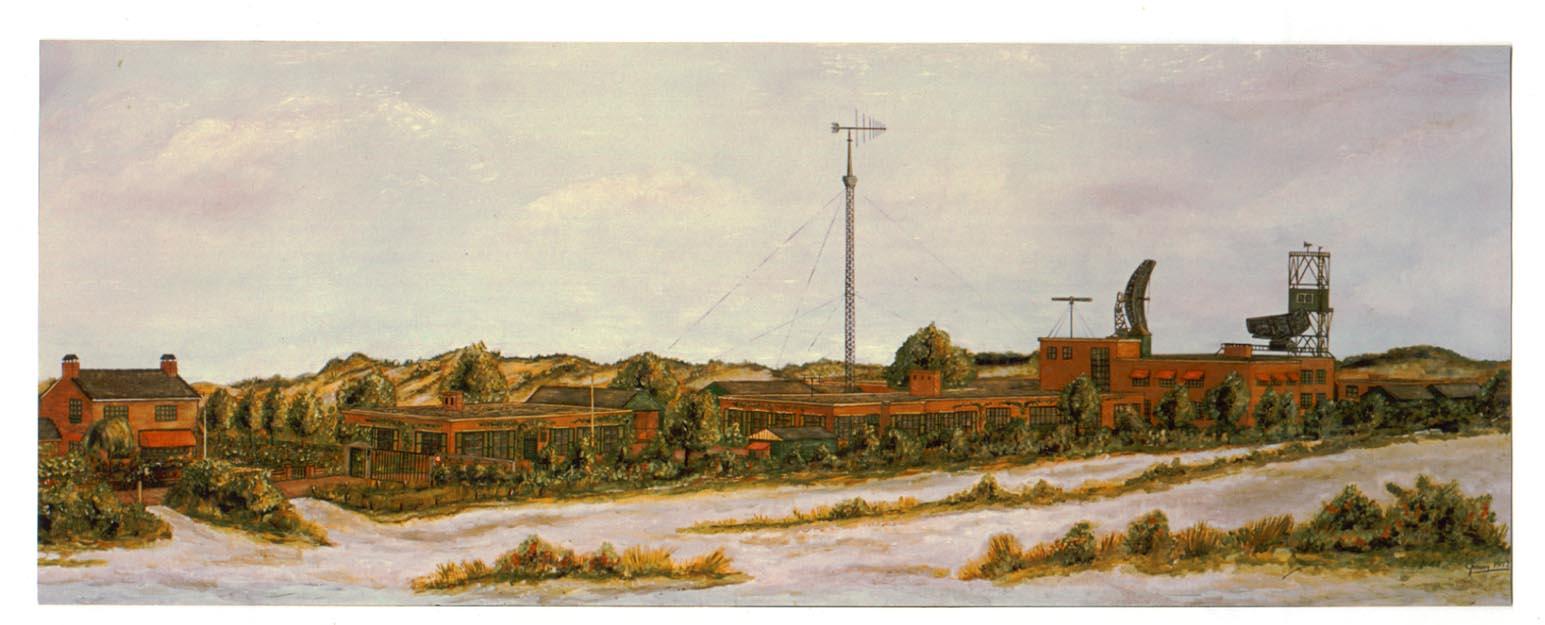 Physisch Laboratorium TNO anno 1965 - schilderij G. Mooij