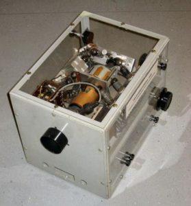 TV-camera om via scanconversie radarbeelden om te zetten naar TV-beelden (1958)
