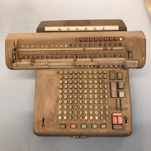 Monroe electric powered desk calculator