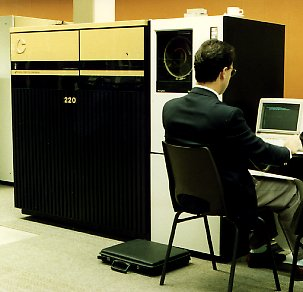 The CONVEX C220 mini-super computer with two CPUs; later extended yo a C230 with three CPUs