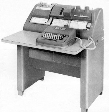 Punchcard key punch machine