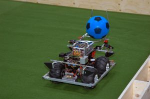 A robot in action at the Robosport Mission