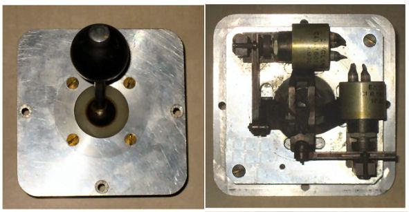 Joystick met mechanisch-elektrische overbrenging (1955)
