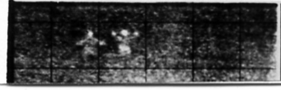 Two persons at 300 m made visible with CHIK (20-1-1971)