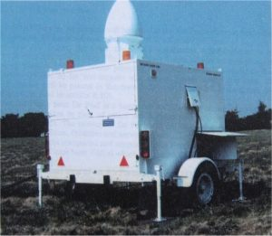 One of the two decoy radars of the DART system