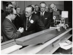 HRH Prince Bernhard on tour of the newly opened Physics Laboratory (image: Municipal archive The Hague)