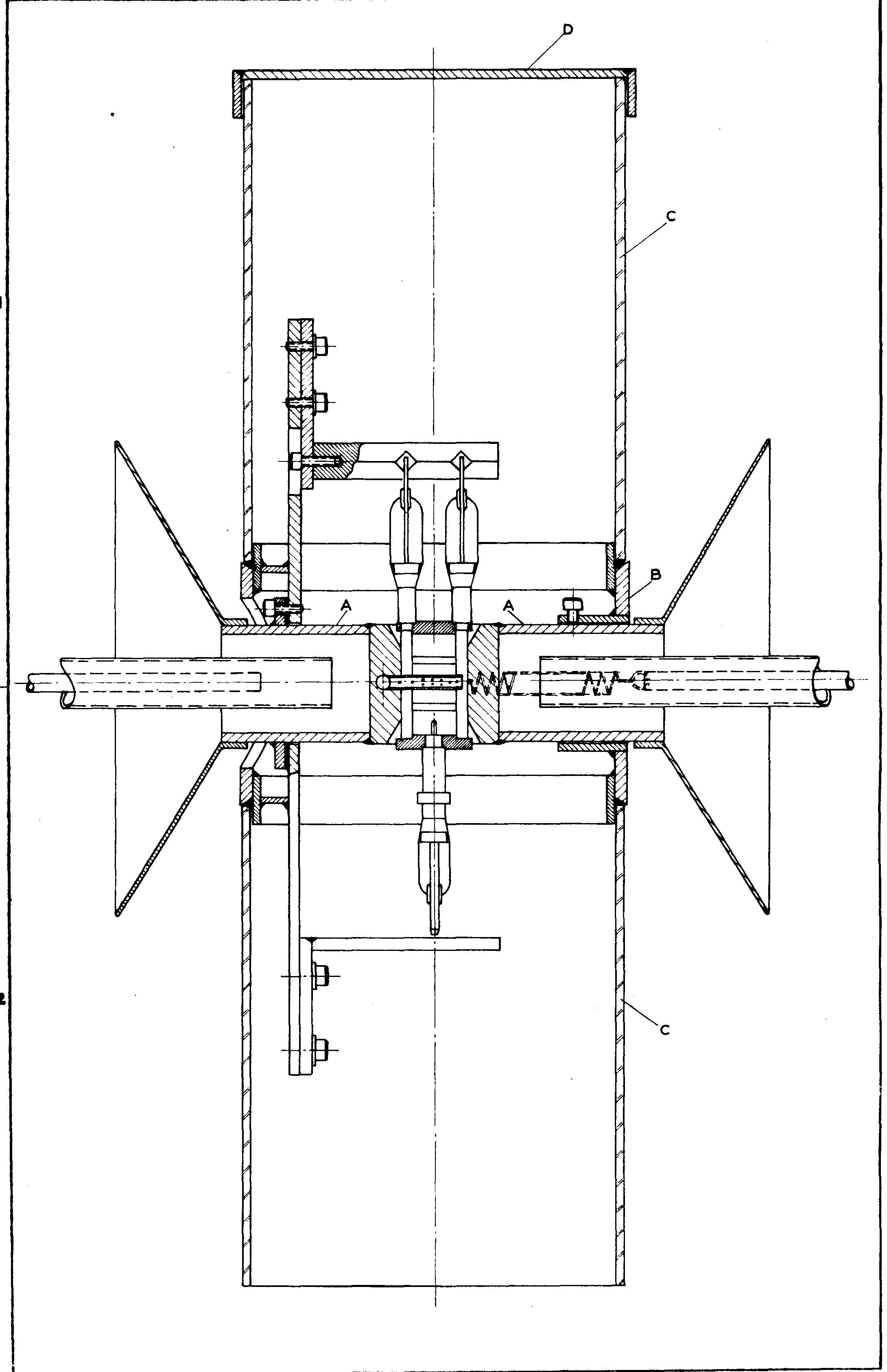 Drawing of the soldering device for magnetrons