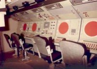 IZF mock-up of the command centre of the Zwaardvis (source: Collection Netherlands Institute for Military History)
