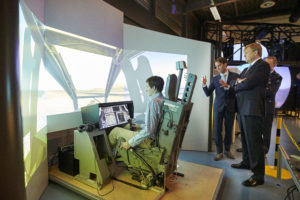 Working visit of HM the King Willem-Alexander to the Center for Man in Aviation and TNO Soesterberg on September 22, 2016 (photo courtesy of the Ministry of Defence