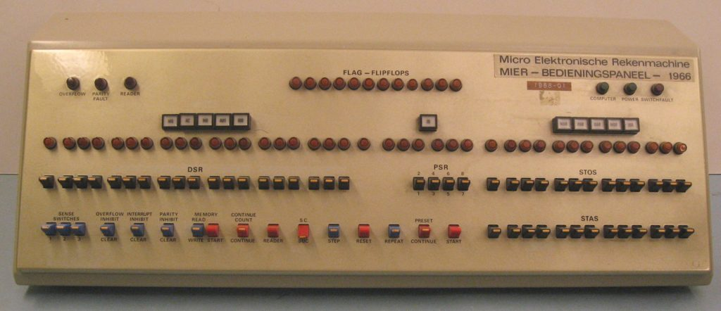Control Panel of the Micro Electronics Calculator (MIER)