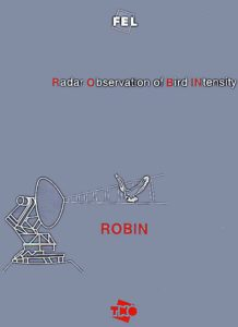 The ROBIN radar logo on the cover of the 4-hole ring binder with ROBIN documentation. The logo is also on the front plate of the ROBIN cabinet in Museum Waalsdorp. Photo: WG de Jong