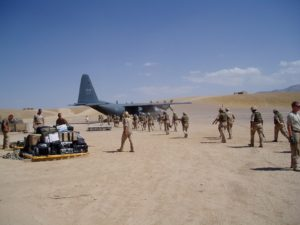 The arrival in Afghanistan