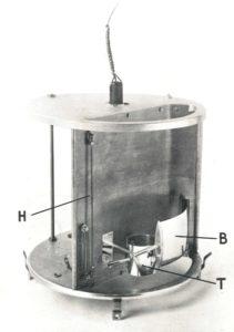 Meteorograph model 1939 B(arometer), H(ygrometer), en T(hermometer)