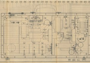 Detailed design drawings for military production of the mobile amplifier (2-3-1940)