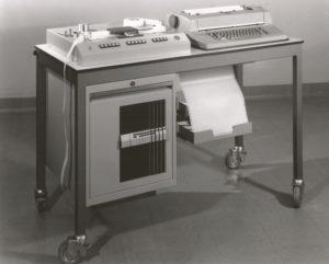 PLUTO: Het geregistreerde telexverkeer werd met de schrijfautomaat op papier afgedrukt (verbeterde SCRIBOPHYL)