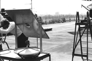 The first trials to prove the principle on the rooftop of LEOK, Oegstgeest