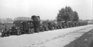 Zoeklichtsectie op transport