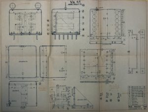 One of the mechanical drawings