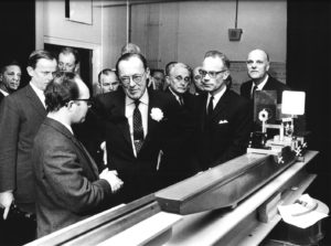 HRH Prince Bernhard tours the just opened Physics Laboratory  (Beeldarchief Gem. Den Haag/ANEVO 219853-10)