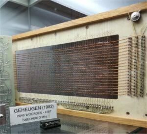 Voorbeeld van een door TNO gefabriceerd kerngeheugen