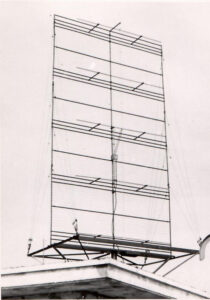 The first mattress or billboard antenna with eight dipoles