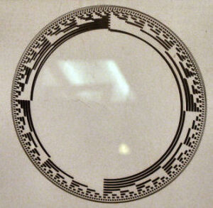 Sine values on a photographic glass plate