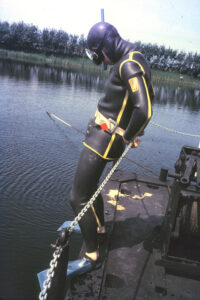 Diver ready for action