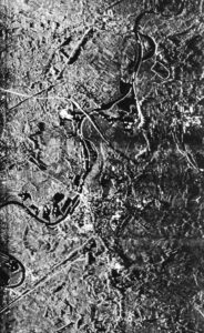 8 mm Q-band SLAR-image near Roermond (10 Nov. 1960)