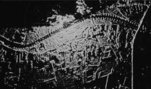 Q-band rotating scanning radar on top of the Duno hill near Arnhem (1958)