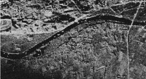 Comparison: The EMI Q-band SLAR (Nov. 1960) with the previous image (1958). The images are slightly rotated
