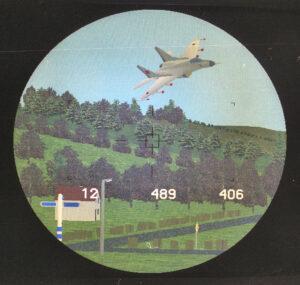 Dit ziet de richter van een virtuele tank in een virtuele omgeving (ca 1996)
