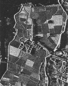 Eerste landbouwgebied waar gewasmetingen met radar werden gedaan, vanaf de daar aanwezige TV-toren