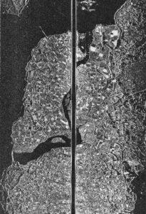 Q-band SLAR opname Zeeland; Noord- en Zuid-Beveland op 500 ft (juli 1964)